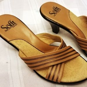 NWOB Sofft Leather Sandals Size 9 M
